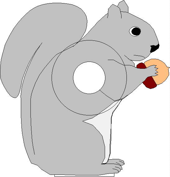 picture relating to Printable Squirrel Target named Squirrel Aim Educate Equivalent Key terms Rules